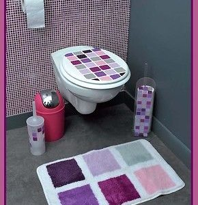 Printed Oval Elongated Toilet Seat Mosaic Wood
