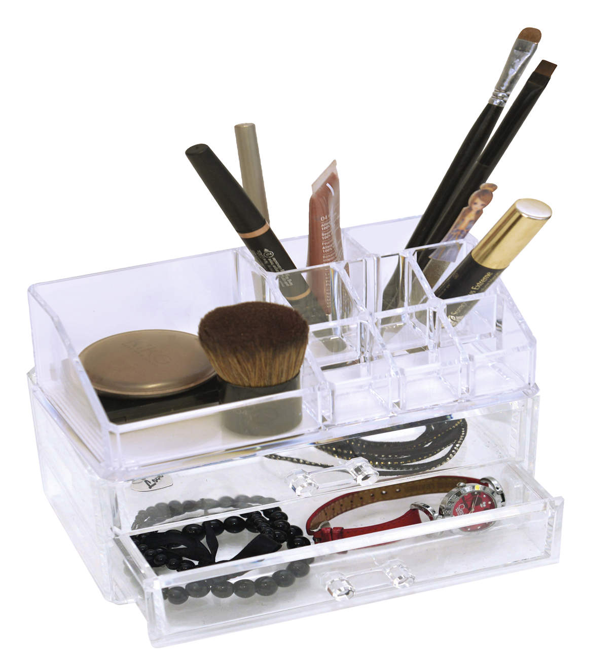 525846d9d5d5 Evideco BOREAL Bathroom Makeup and Cosmetic Storage Organizer 9  compartments Open Top