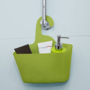 Wall Shower Caddy Plastic Basket with Hanger for College,Camp,Dorm,Vacation,Trip,School Grey