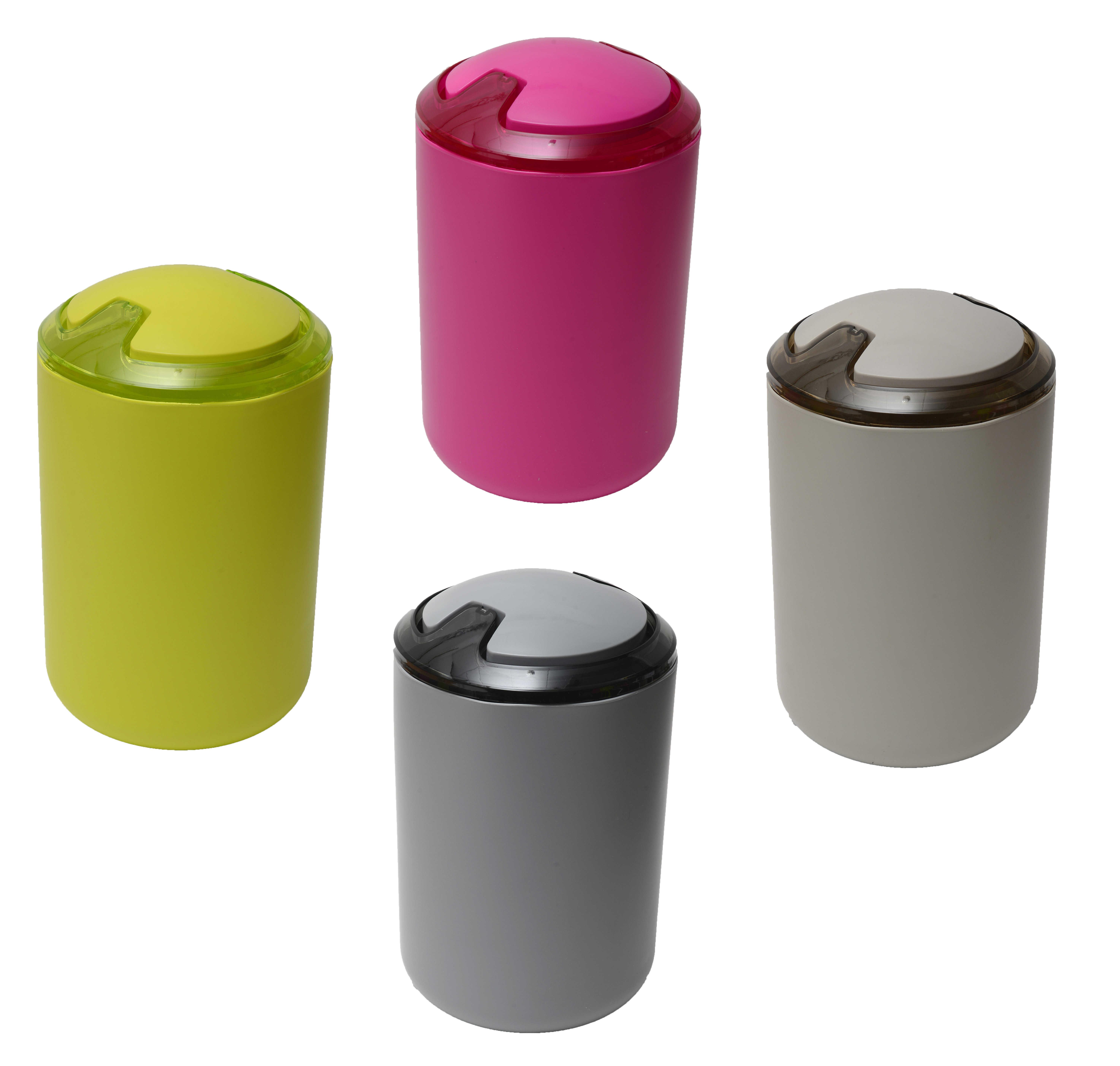 Evideco Design Round Bathroom Floor Trash Can Waste Bin