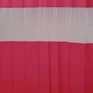 Laser Peva Solid Colors Bathroom Shower Curtain, Pink