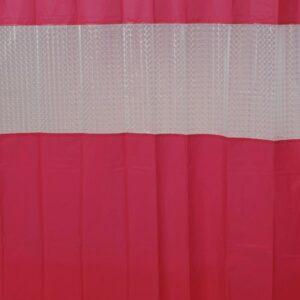 Laser Peva Solid Colors Bathroom Shower Curtain, Pink