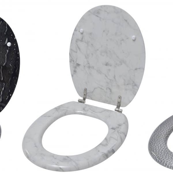 Superb Evideco Oval Toilet Seat Water Drops Effect 3 Printed Sides Creativecarmelina Interior Chair Design Creativecarmelinacom