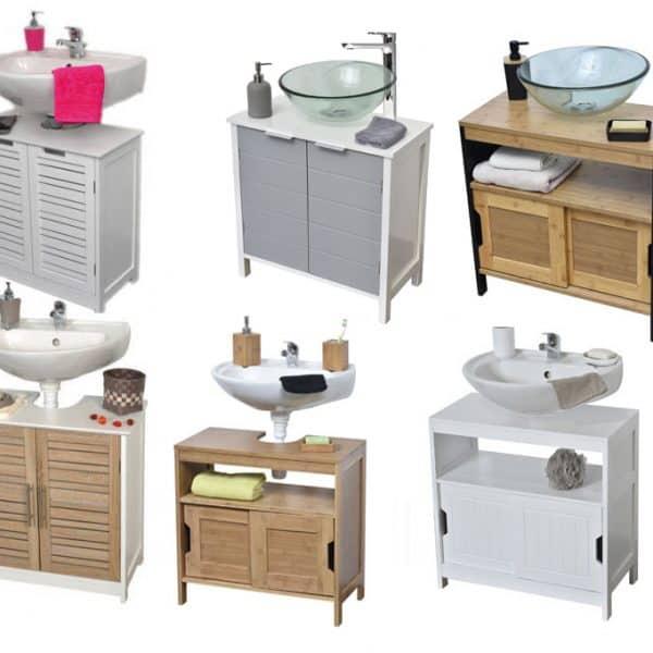 Evideco Freestanding Non Pedestal Under Sink Vanity Cabinet