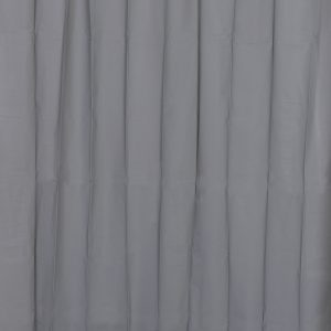 Solid Eva Bathroom Shower Curtain, Grey