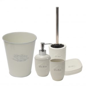 Collection Le Bain Bathroom Free Standing Toilet Bowl Brush and Holder