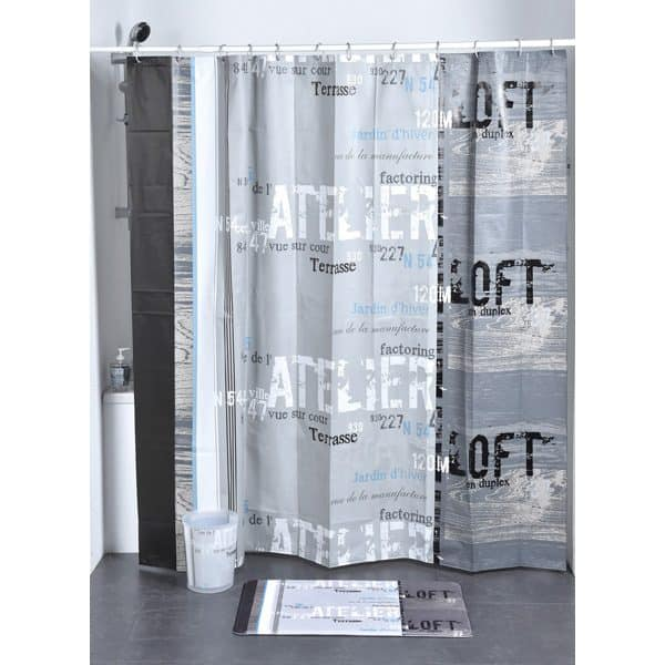 Atelier Loft Peva Bath Printed Shower Curtain, Multicolored