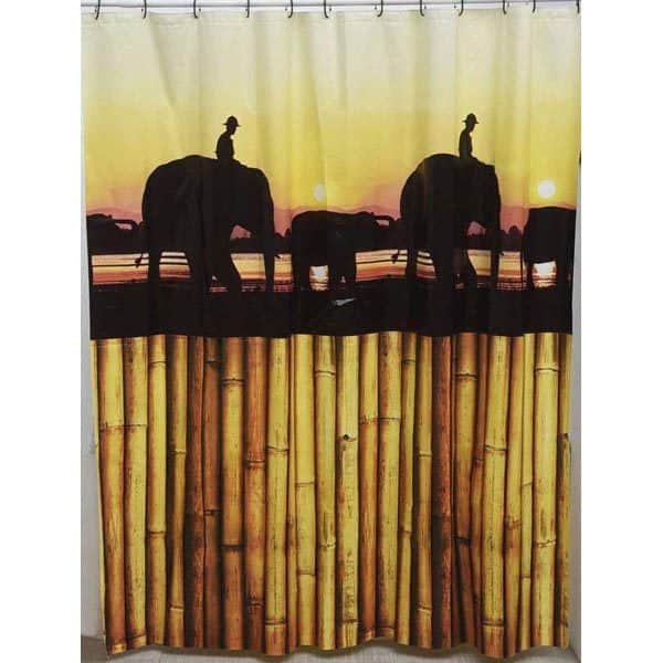 The Island Peva Bathroom Printed Shower Curtain, Multicolored