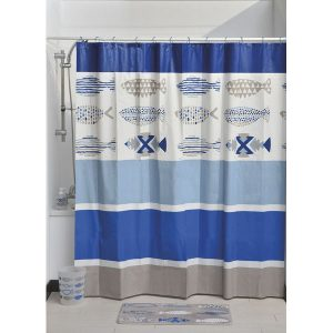 Nautical Bath Printed Peva Liner Shower Curtain, Multicolored