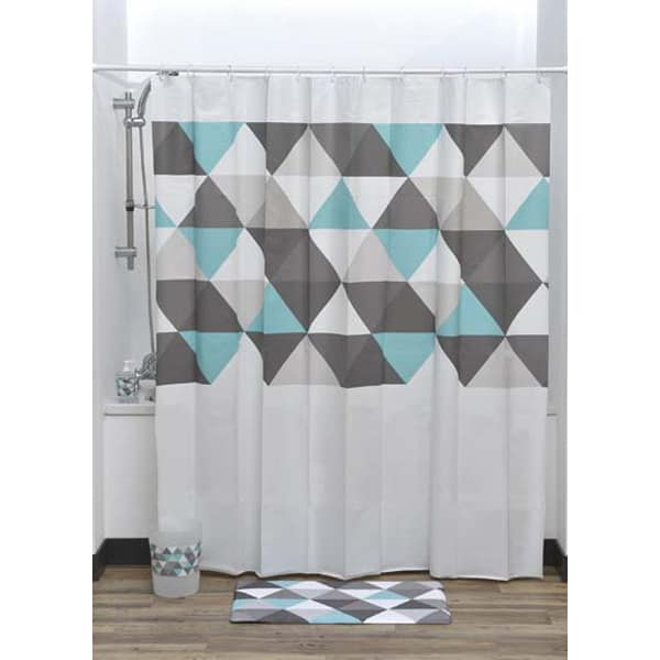 Evideco Nordik Collection Printed Peva Liner Shower Curtain Plastic