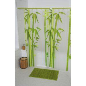 Ecobio Peva Bathroom Printed Shower Curtain, Multicolored
