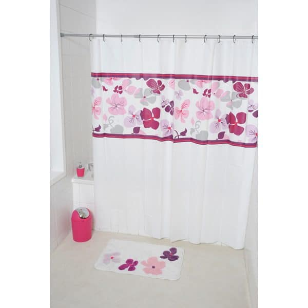 Softies Peva Bathroom Printed Shower Curtain, Multicolored