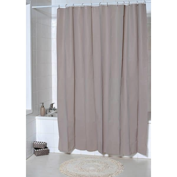 Solid Eva Bathroom Shower Curtain, Taupe