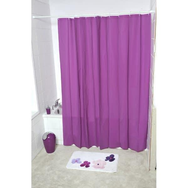 Eva Solid Bathroom Shower Curtain, Purple