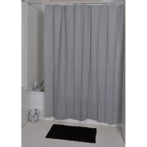 Solid Eva Bathroom Shower Curtain, Grey