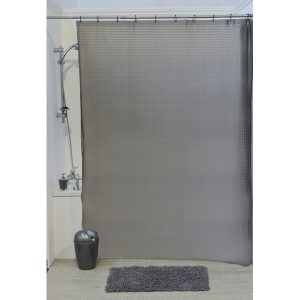 3D Effect Laser Eva Bathroom Shower Curtain,Grey