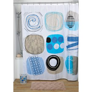 Street Art Polyester Printed Fabric Shower Curtain, Multicolored