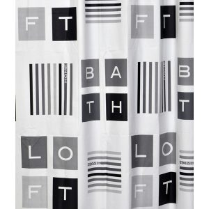 Peace and Loft Polyester Fabric Shower Curtain, Multicolored