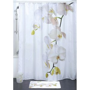 Purity Orchid Polyester Bath Fabric Shower Curtain, Multicolored