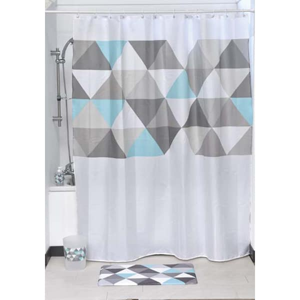 Nordik Printed Polyester Fabric Shower Curtain 71Wx79H