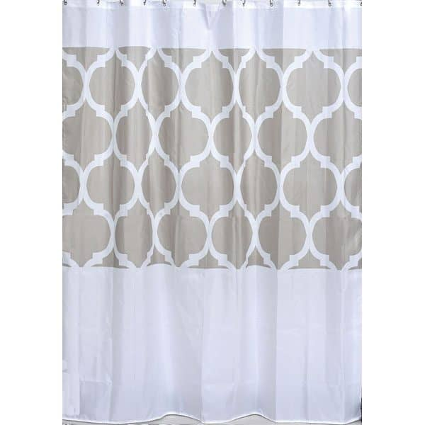 Escal Printed Polyester Fabric Shower Curtain 71Wx79H