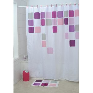 Vitamine Bathroom Printed Shower Curtain, Multicolored