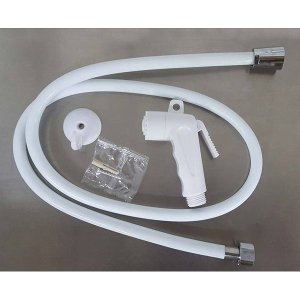 Modern Toilet Hand Bidet Sprayer with Flexible Pvc Hose Set, White