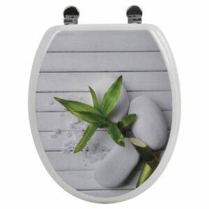 So Zen Design Oval Elongated Toilet Seat Adjustable Zinc Hinges