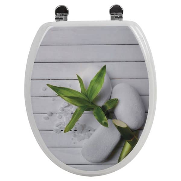 So Zen Design Oval Elongated Toilet Seat Adjustable Zinc Hinges
