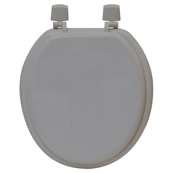 Round Molded Wood Toilet Seat Solid Color, Brown
