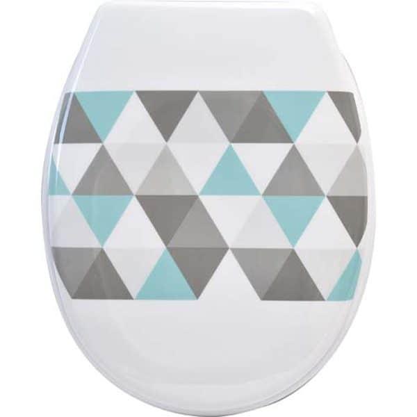 Nordik Printed Duroplast Oval Toilet Seat 17L x 14.6W