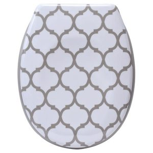 Escal Printed Duroplast Oval Toilet Seat 17L x 14.6 W