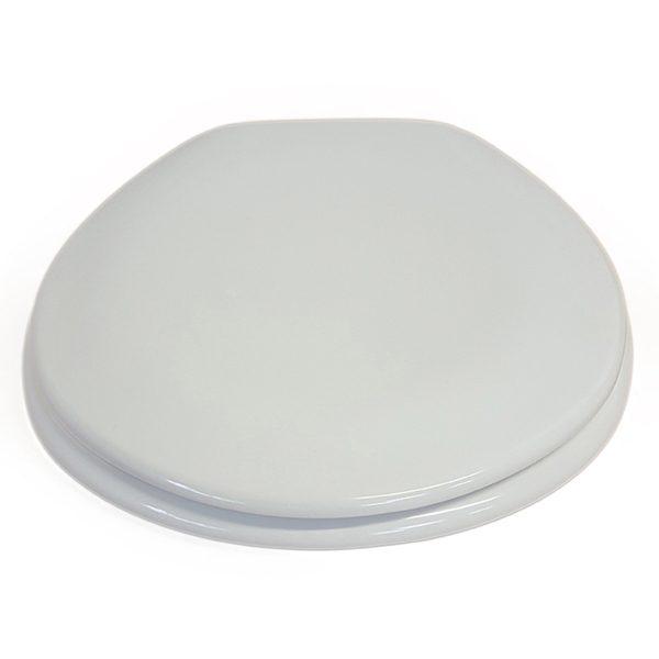 "Round Toilet Seat Moorea Adjustable Hinges Ivory 17.8""x14.5"""