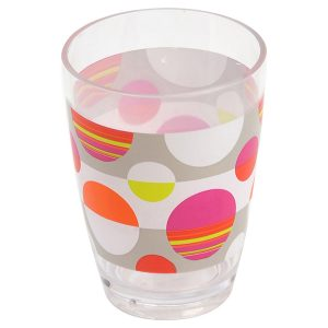 Eclats Clear Acrylic Printed Bathroom Tumbler