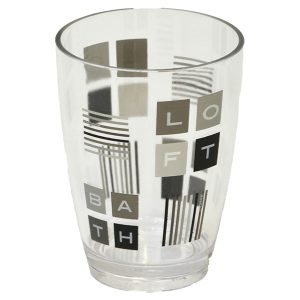 Peace and Loft Clear Acrylic Printed Bathroom Tumbler