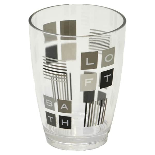 Superbe Peace And Loft Clear Acrylic Printed Bathroom Tumbler