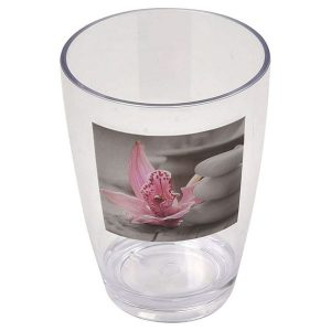 Chic and Zen Clear Acrylic Printed Bathroom Tumbler