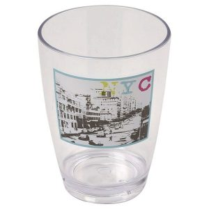 Urban NYC Clear Acrylic Printed Bathroom Tumbler
