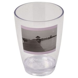Seaside Clear Acrylic Printed Bathroom Tumbler