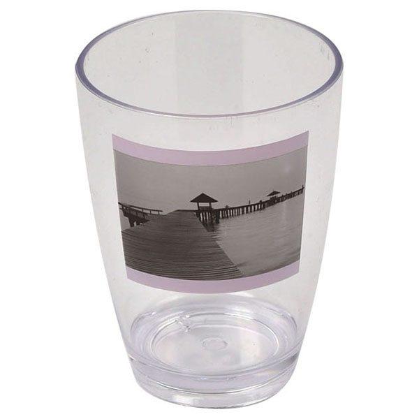 Seaside Clear Acrylic Printed Bathroom Tumbler