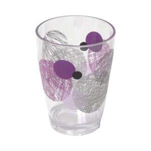 Clear Acrylic Printed Bathroom Tumbler Valentine Purple