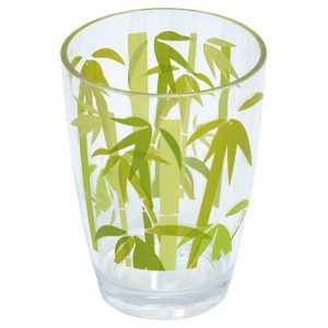 Ecobio Clear Acrylic Printed Bathroom Tumbler