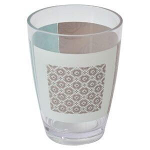 Faience Printed Bathroom Water Tumbler Clear Acrylic