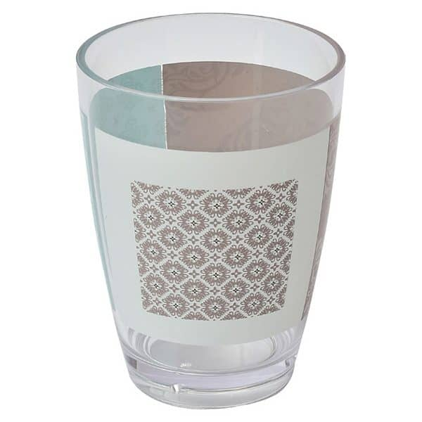 Faience Printed Bathroom Water Tumbler Clear Acrylic