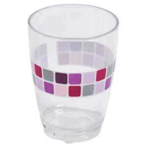 Mosaic Clear Acrylic Printed Bathroom Tumbler