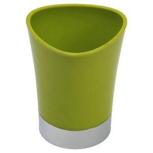 Bathroom Tumbler Toothbrush Holder Chrome Base - Lime Green