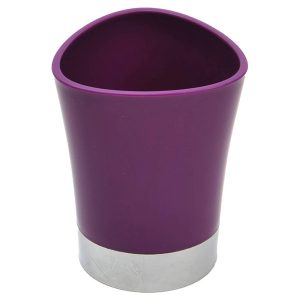 Bathroom Tumbler Toothbrush Holder Chrome Base - Purple