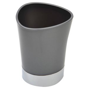 Bathroom Tumbler Toothbrush Holder Chrome Base - Grey