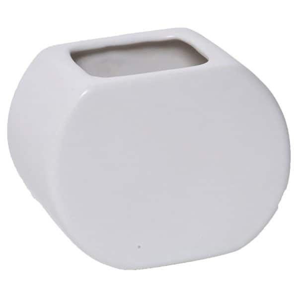 Stoneware Bathroom Toothbrush Holder and Tumbler Solid White