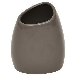 Bathroom Vanity Tumbler ELEGANCE Pebble Durable Plastic Taupe